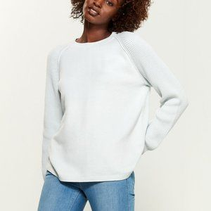 VINCE Frost Ribbed Raglan Sleeve Crew Neck Sweater